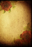 bakgrund blommar retro Arkivbild