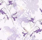bakgrund blommar seamless Arkivfoto