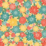 bakgrund blommar seamless Arkivbilder
