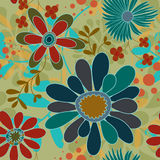 bakgrund blommar seamless swirls stock illustrationer