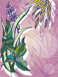 bakgrund blommar vatten royaltyfri illustrationer