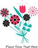 bakgrund blommar vektorn Arkivbilder