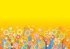 bakgrund blommar vektoryellow Vektor Illustrationer