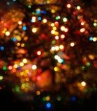 bakgrund blured mörka lampor Fotografering för Bildbyråer