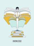 bakgrund books isolerad kunskapswhite för begrepp det fulla huvudet Royaltyfria Foton