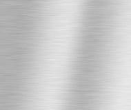 bakgrund borstad metallisk silver Arkivbild