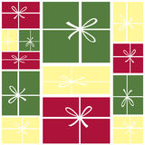 bakgrund boxes julgåvan Royaltyfri Illustrationer