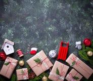 bakgrund boxes julgåvan Royaltyfria Foton