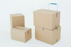 bakgrund boxes pappwhite Arkivfoto