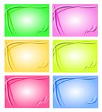 Bakgrund brevhuvud som är färgrik Royaltyfri Bild