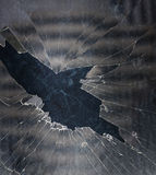 bakgrund brutet exponeringsglas Royaltyfri Bild