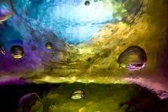bakgrund bubbles exponeringsglas Royaltyfri Bild