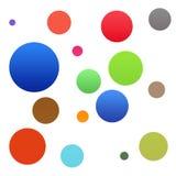 bakgrund bubbles färgrikt Royaltyfri Illustrationer