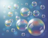 bakgrund bubbles hemligt tvålavstånd för det magiska stället Royaltyfri Fotografi