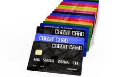 bakgrund cards krediteringswhite Fotografering för Bildbyråer