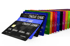 bakgrund cards krediteringswhite Royaltyfri Bild