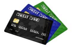 bakgrund cards krediteringswhite Arkivfoto