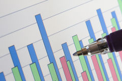 bakgrund charts data arkivbild
