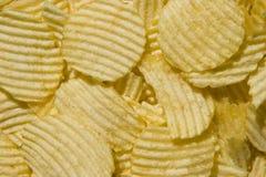 bakgrund chips potatisen Royaltyfri Foto