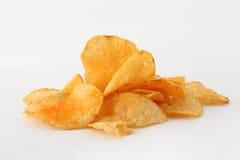bakgrund chips potatiswhite Royaltyfri Fotografi