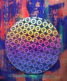 bakgrund cirklar färgrikt Royaltyfria Bilder