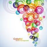 bakgrund cirklar färgrikt Arkivfoton