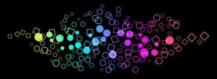 bakgrund cirklar fyrkanten Arkivfoto
