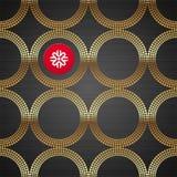 bakgrund cirklar guld- lyxigt seamless Arkivbild