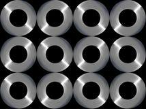 bakgrund cirklar metall Fotografering för Bildbyråer