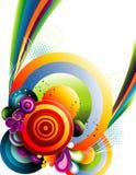 bakgrund cirklar vektorn Fotografering för Bildbyråer