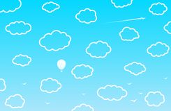 1 bakgrund clouds den molniga skyen vektor Vektor Illustrationer