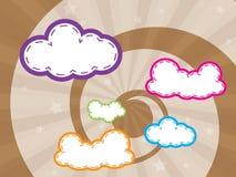 bakgrund clouds färgrik design Fotografering för Bildbyråer