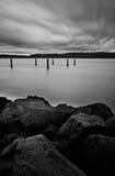 bakgrund clouds lång blåsig slutarehastighet Fotografering för Bildbyråer