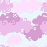bakgrund clouds rosa seamless Arkivbilder