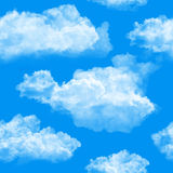 bakgrund clouds seamless Royaltyfri Fotografi