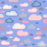 bakgrund clouds seamless Royaltyfria Foton