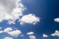 bakgrund clouds skyen Royaltyfri Fotografi
