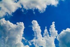bakgrund clouds skyen Royaltyfria Bilder