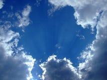 bakgrund clouds skyen Royaltyfri Foto