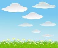 bakgrund clouds sommarvektorn Arkivfoton