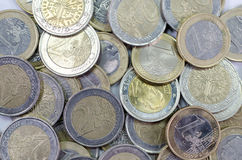 bakgrund coins euro Fotografering för Bildbyråer
