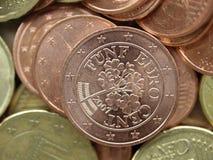 bakgrund coins euro Arkivfoton