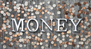 bakgrund coins pengar Royaltyfri Bild