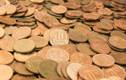 bakgrund coins pengar Royaltyfria Bilder