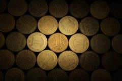 bakgrund coins ukrainare Royaltyfri Bild