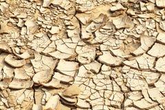 bakgrund cracked jord Arkivfoto