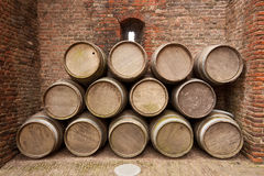 bakgrund 3d barrels model vit wine Royaltyfria Bilder