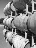 bakgrund 3d barrels model vit wine Fotografering för Bildbyråer