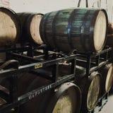 bakgrund 3d barrels model vit wine Royaltyfri Fotografi
