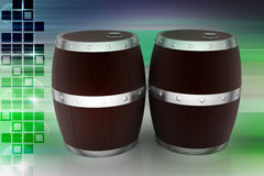 bakgrund 3d barrels model vit wine stock illustrationer